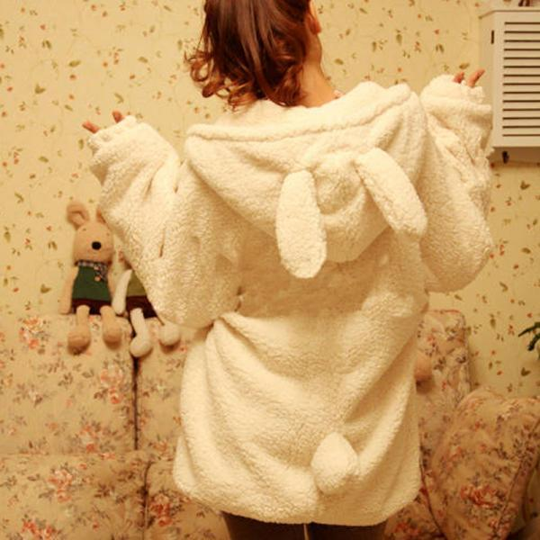 Teddy Bear plush rabbit ears winter coat