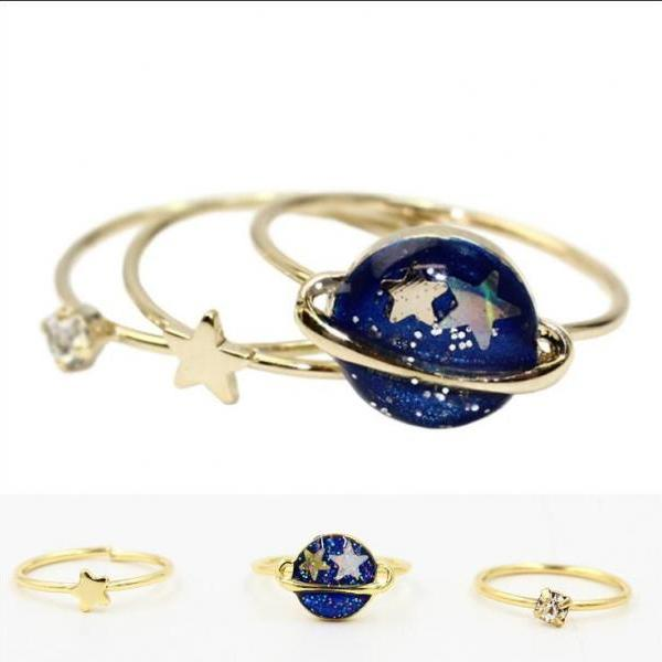 Harajuku planet / star / diamond ring