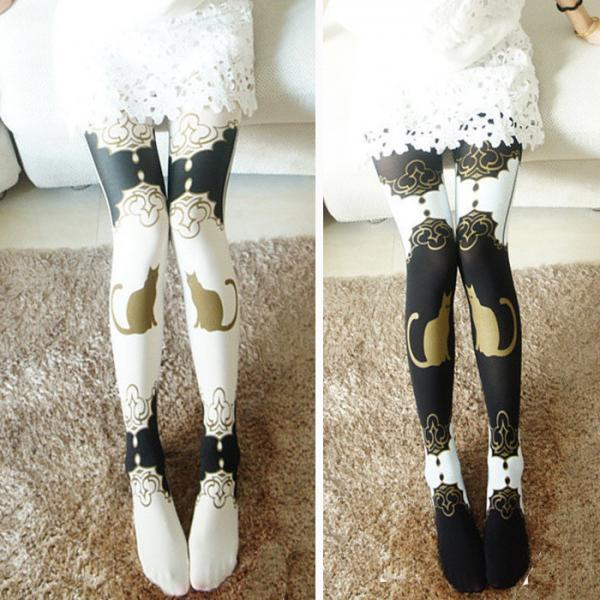Cute Cat Pattern Tights