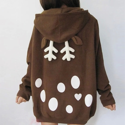 Cute Elk Hooded Coat